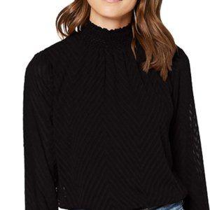Women's high collar shirt